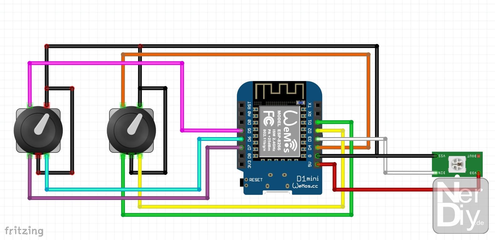 Encoder wiring diagram rotary Hohner Encoder
